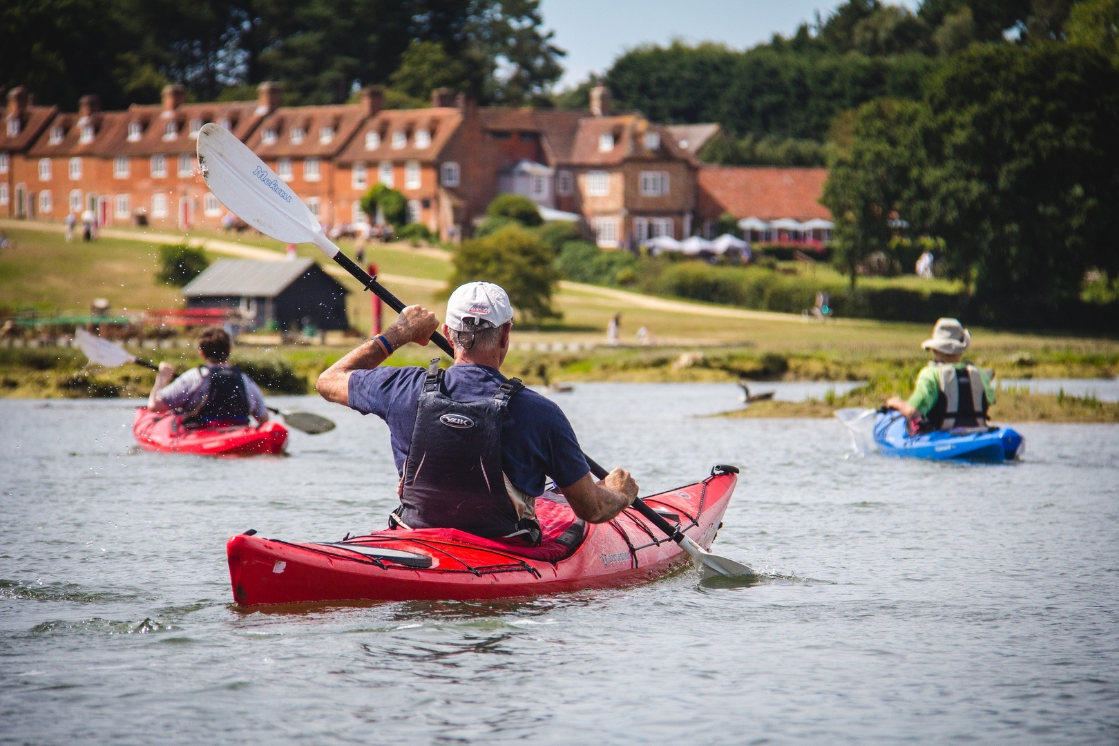 Social distancing paddling on a sea kayaking introduction with Liquid Logistics